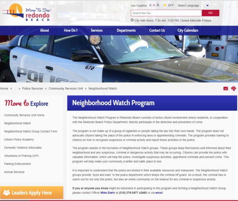 Neighborhood Watch Info