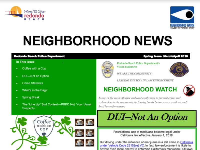 Neighborhood Watch Newsletter 022818