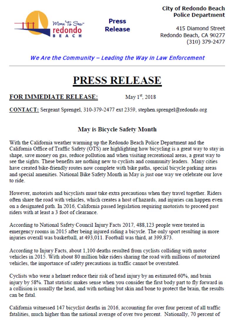 RBPD Press Release 050318