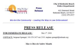 RBPD Press Release - Snip