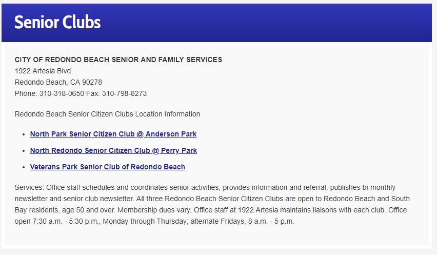Senior Center Perry Park